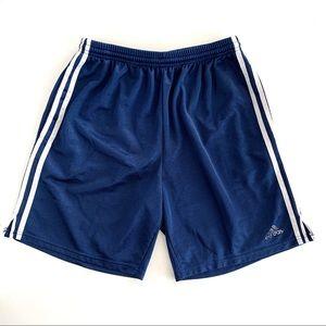 Adidas Blue White 3 Stripe Shorts Size Medium